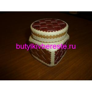 Стеклянная банка 0.25 Плетеная